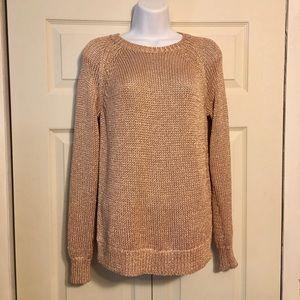 J Crew metallic sweater